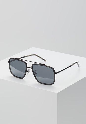 Sunglasses - matte black/transparent grey