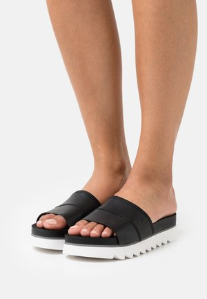 SANTA MONICA SUNRISE SLIDE - Sandalias planas - black
