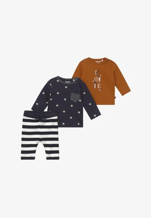 2 PACK SET - Broek - dark blue/brown