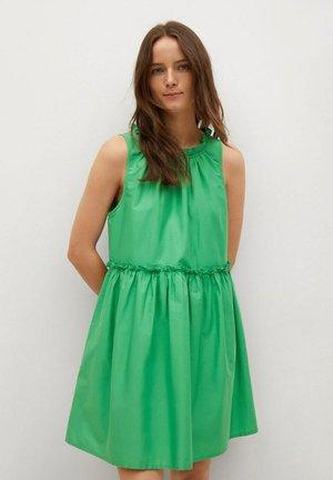 MET GEPLOOID DETAIL - Denní šaty - groen