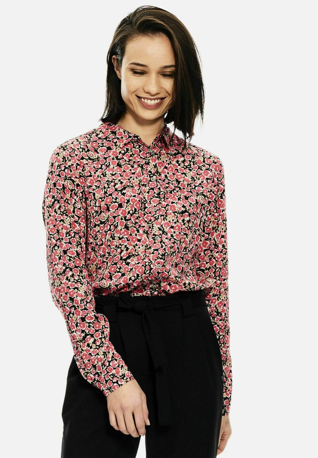 WITH ALLOVER PRINT - Overhemdblouse - fiery pink