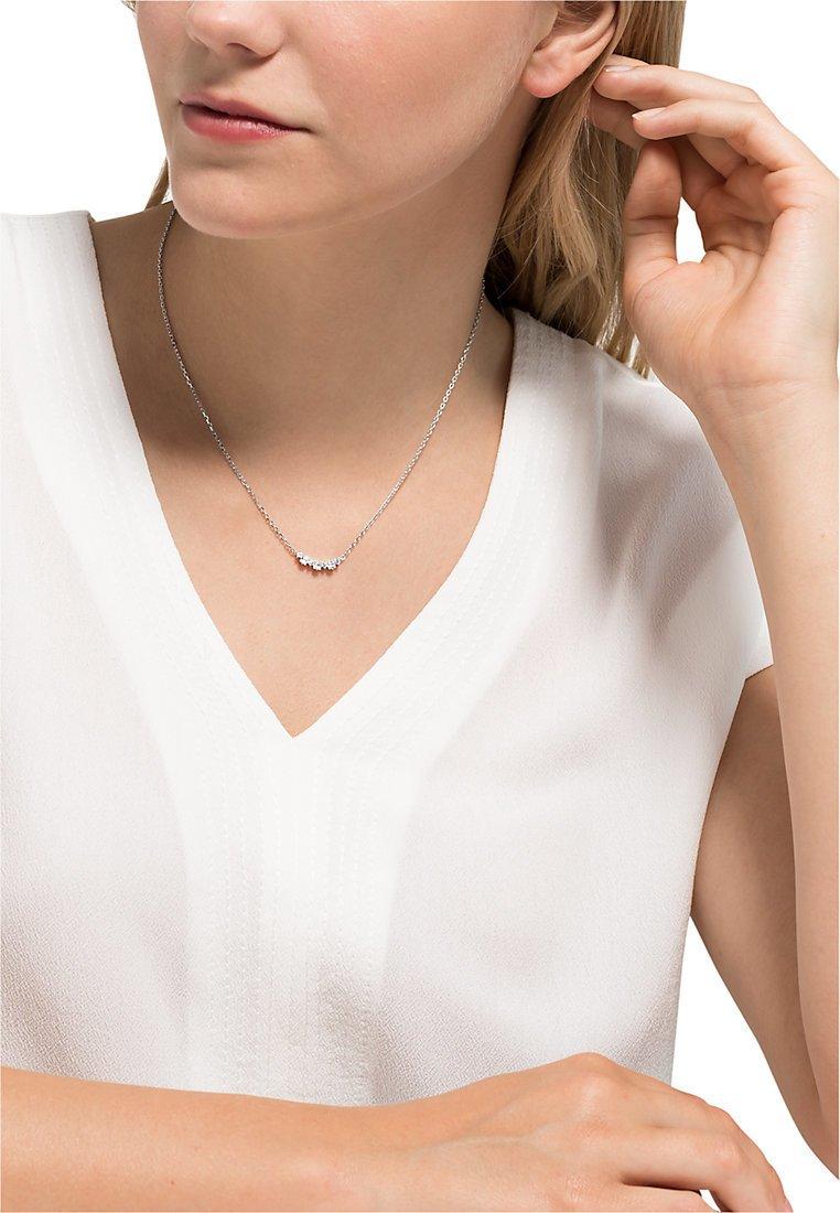 FAVS - DAMEN-KETTE 925ER SILBER 10 ZIRKONIA - Necklace - silber