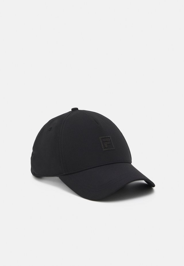 PANELS WITH BOX LOGO UNISEX - Keps - black