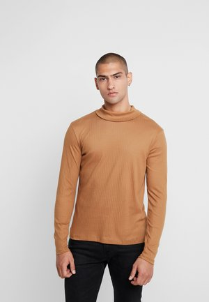 JPRLUTON LS TEE TURTLE NECK  - Long sleeved top - tobacco brown