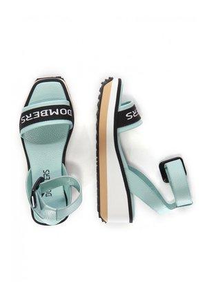 MATRIX HEBILLA - Platform sandals - verde agua