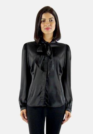 MARI - Button-down blouse - black