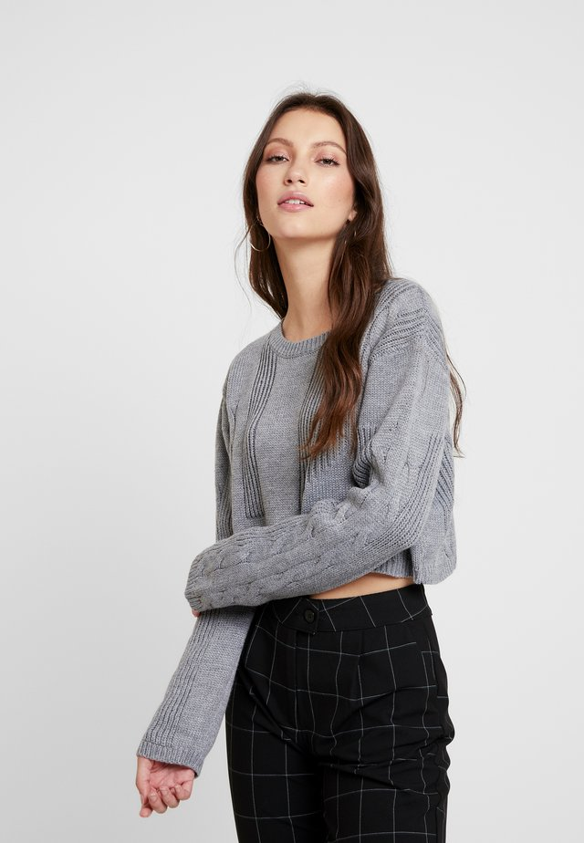 NECK CROPPED LOVE SLEEVE - Pullover - grey