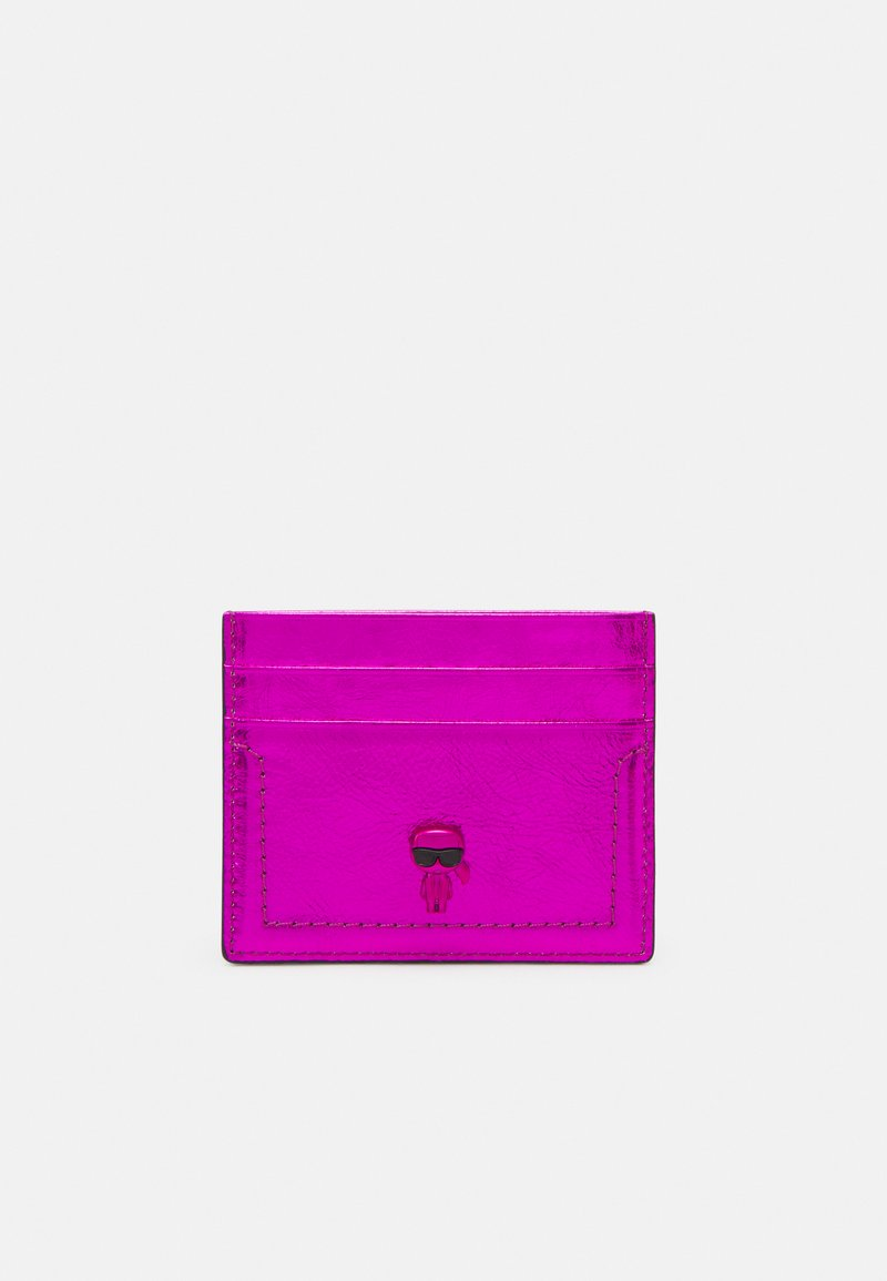 KARL LAGERFELD - IKONIK 3D PIN CARD HOLDER - Pouzdro na vizitky - pink