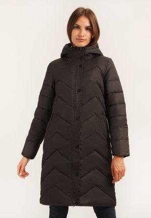 MIT SCHÖNER STEPPOPTIK - Down coat - black