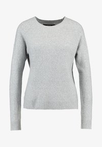 Vero Moda - VMDOFFY O NECK - Jersey de punto - light grey melange