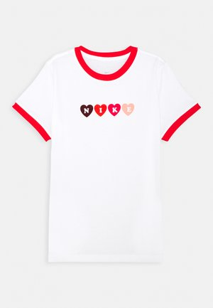 RINGER LOVE - T-shirt con stampa - white/chile red