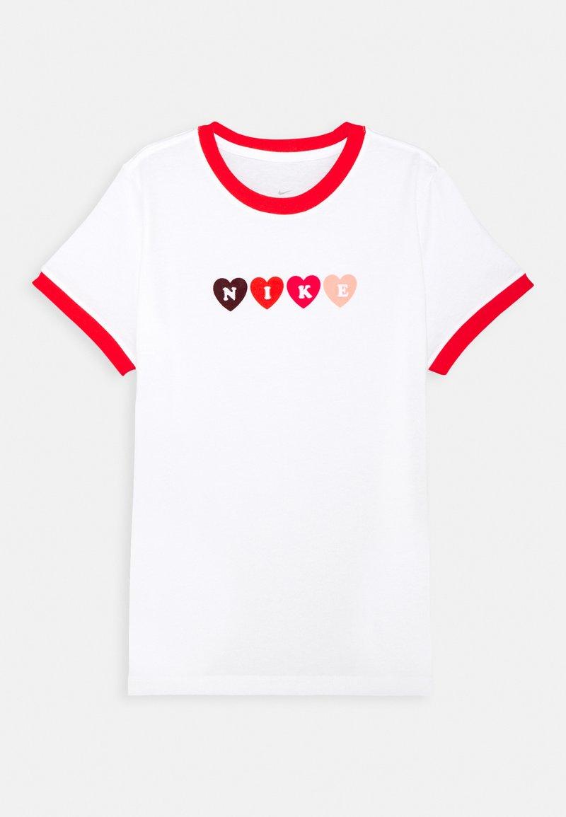 Nike Sportswear - RINGER LOVE - Camiseta estampada - white/chile red