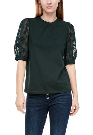 MIT TRANSPARENZ-EFFEKT - Blouse - dark green