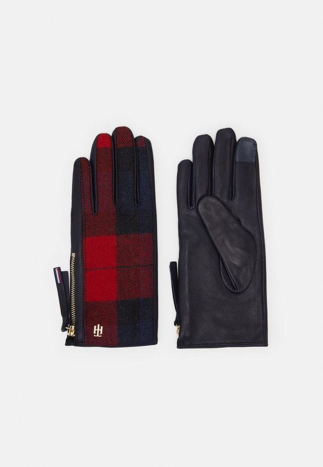 MIX GLOVES CHECK - Gants - blue