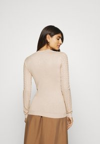 Anna Field - POINTELLE JUMPER - Neule - light tan melange - 2