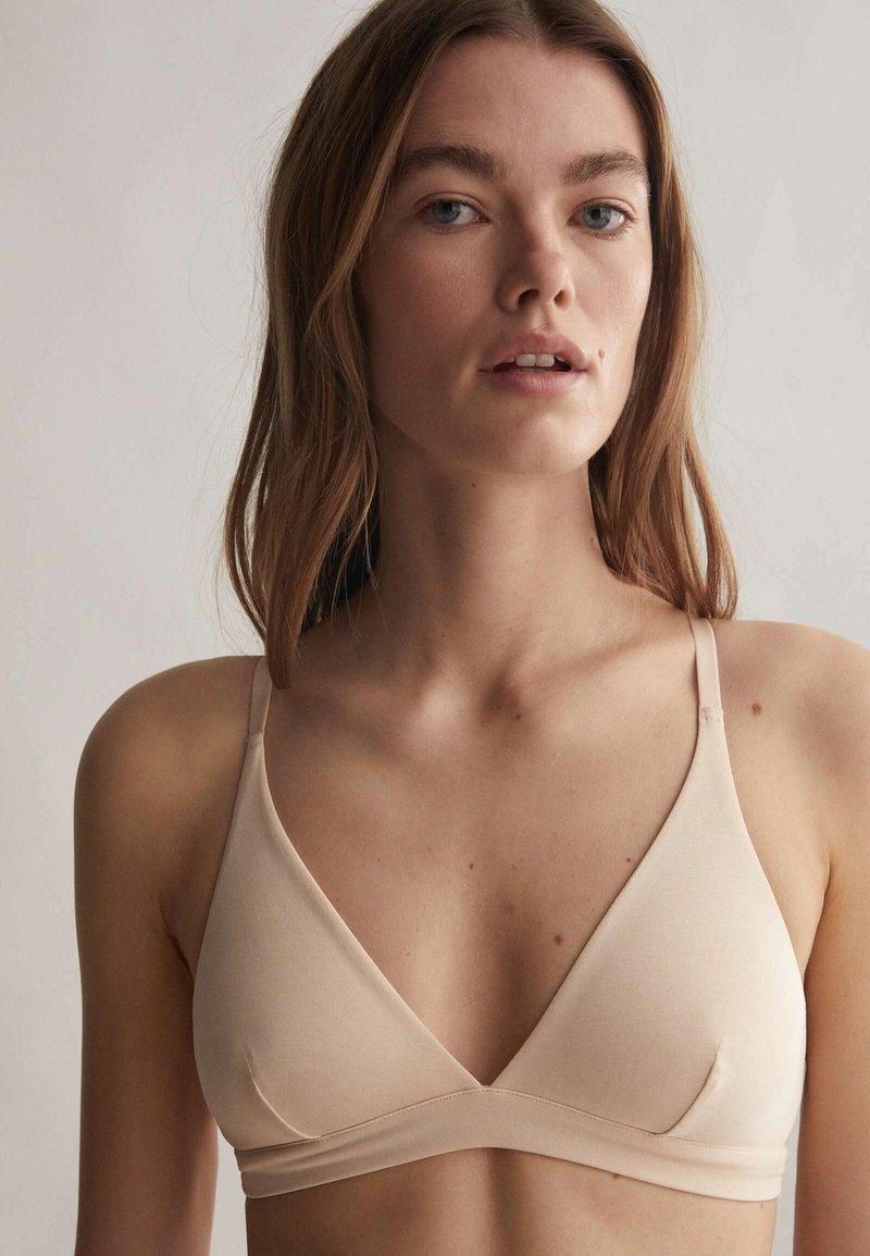 OYSHO - Kaarituettomat rintaliivit - beige