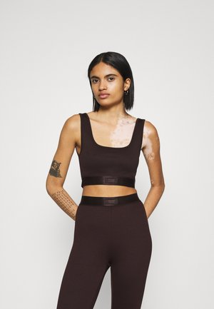 CONNIEBRA TOP - Top - black coffee