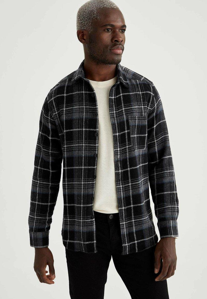 DeFacto - OVERSHIRT - Shirt - black