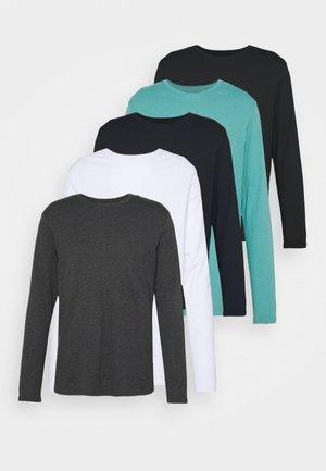 5 PACK - Top sdlouhým rukávem - dark blue/turquoise/white
