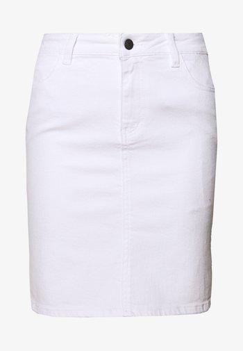 OBJWIN - Denim skirt - white denim