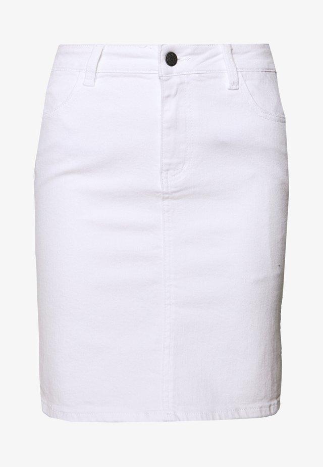 OBJWIN - Jupe en jean - white denim
