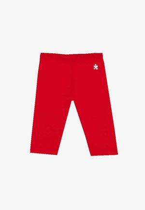 CON LOGO - Leggings - Trousers - rojo