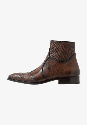 Cowboy/biker ankle boot - serp/natur/jonu cognac
