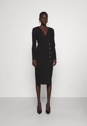 ADLER ABITO PUNTO STOFFA - Vestito di maglina - black