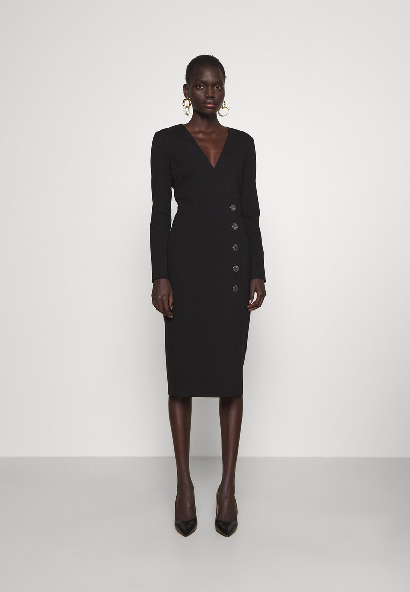 Pinko - ADLER ABITO PUNTO STOFFA - Jersey dress - black
