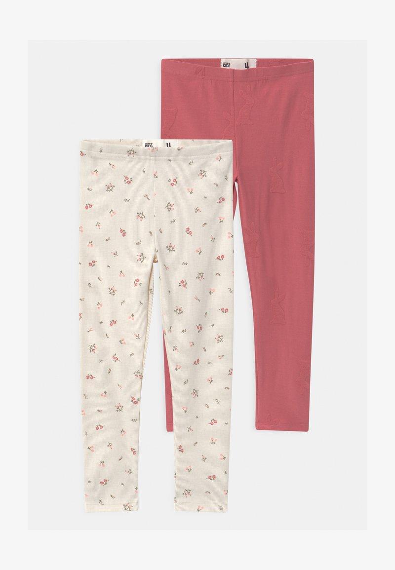 Cotton On - HUGGIE 2 PACK - Leggings - Trousers - faded rose/dark vanilla