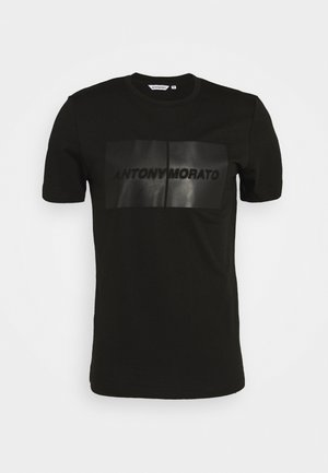 ROUND COLLAR  - T-shirt con stampa - black