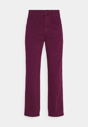 DRILL STRAIGHT LEG TROUSER - Pantalones - tawny port