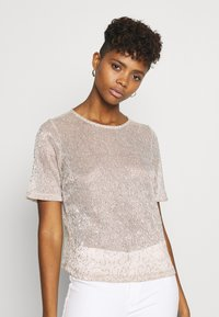 Gina Tricot - JUDY GLITTER  - Bluse - beige - 0