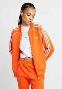 adidas Originals - ADICOLOR 3 STRIPES BOMBER TRACK JACKET - Training jacket - orange - 0