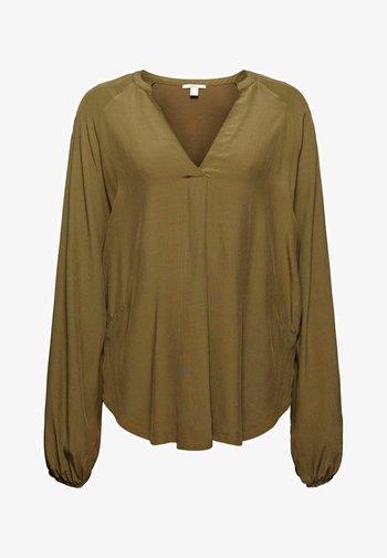 FEMININE  - Long sleeved top - dark khaki