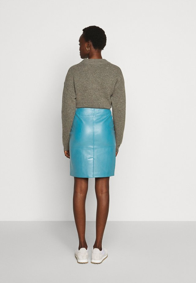 CECILIA - Pencil skirt - petrol