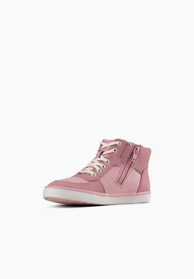 Clarks - CITY FLAKE - High-top trainers - rosa leder