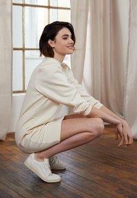 TOM TAILOR DENIM - PUFF SLEEVE DRESS - Day dress - soft creme beige - 2