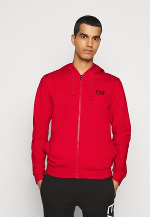 Zip-up hoodie - racing red