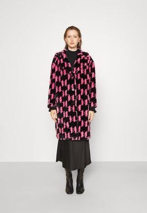 MONOGRAM COAT - Winter coat - black/pink