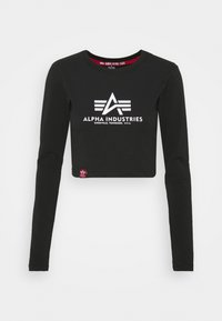 Alpha Industries - BASIC CROPPED  - Long sleeved top - black - 5