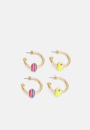 PCMUFFI EARRINGS 2 PACK - Øredobber - gold color