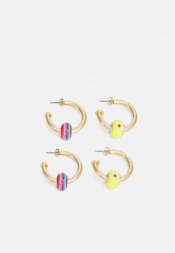 PCMUFFI EARRINGS 2 PACK - Earrings - gold color