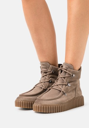 BIANCA  - Lace-up ankle boots - taupe