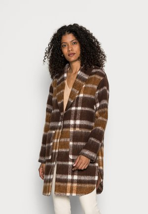 CHECK COAT - Classic coat - brown