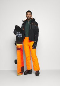 CMP - MAN - Sweatshirt - nero melange/orange fluo - 1