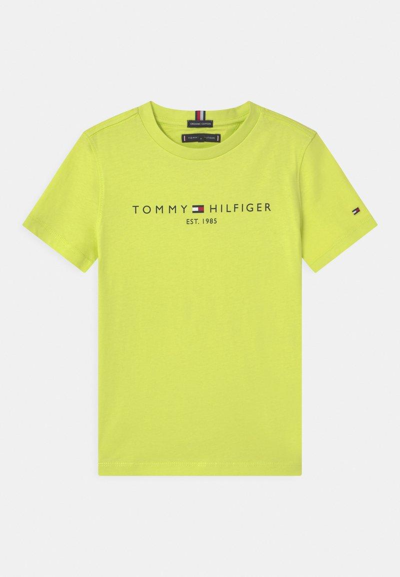 Tommy Hilfiger - ESSENTIAL LOGO UNISEX - T-shirt z nadrukiem - sour lime