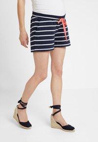 MAMALICIOUS - MLPERA - Shorts - navy blazer/snow - 0