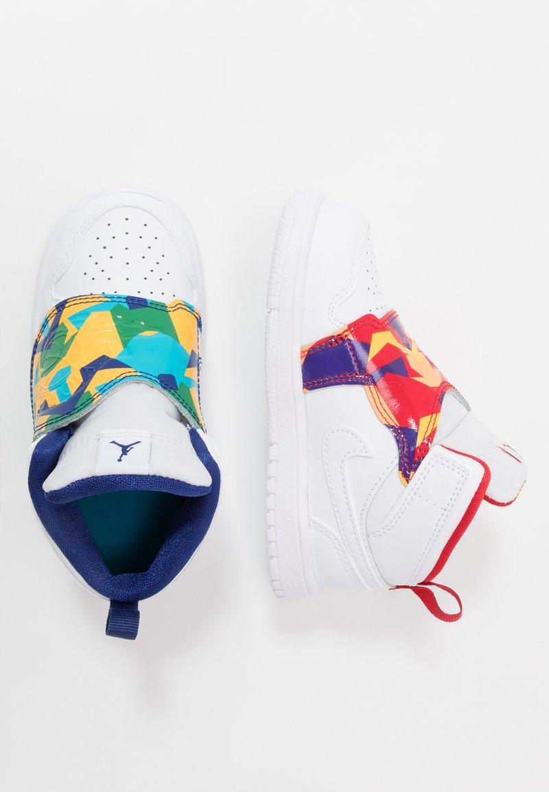 Jordan - SKY 1 UNISEX - Basketball shoes - white/court purple/total orange