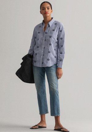 Button-down blouse - college blue